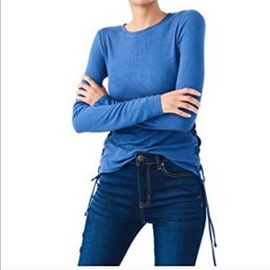 Seriously soft long sleeve lace up tee